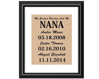 My Greatest Blessings Call Me Nana Gift For Christmas Birthday Grandma