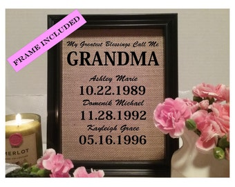Framed grandparents gift grandma grandpa gift for grandma framed christmas gift for grandma christmas gift for gram christmas present for grandma gift for grandmother christmas grandma negle Image collections