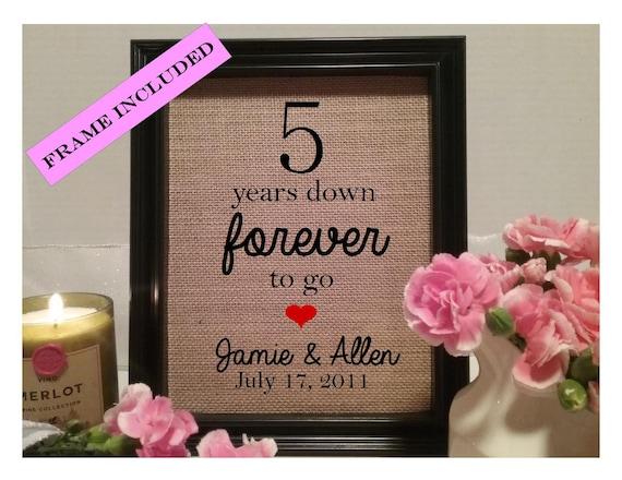 5 Year Wedding Anniversary Gift 5th Wedding Anniversary Etsy