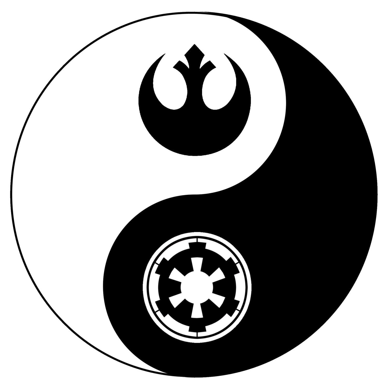 Star Wars Yin Yang Decal Window Sticker Laptop Sticker Etsy