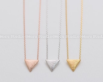 Dainty Inverted Triangle Necklace - Gold, Silver, Rose Gold. Triangle Necklace, Delicate Necklace, Layering Necklace, Bridesmaid Gift NBB077