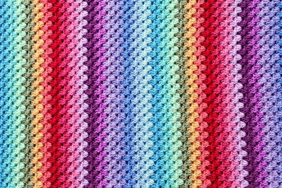 Diy Kit Oma Platz Oder Häkeln Streifen Temperatur Rainbow Etsy