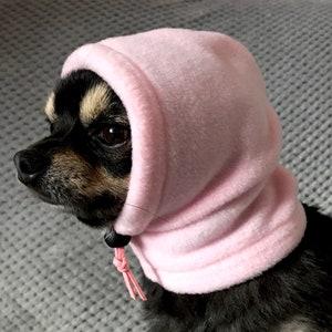 snood hood warm winter hat  snood hood Yoda inspired dog snoodhood hat Dog fancy dress hat .star wars inspired dog hat