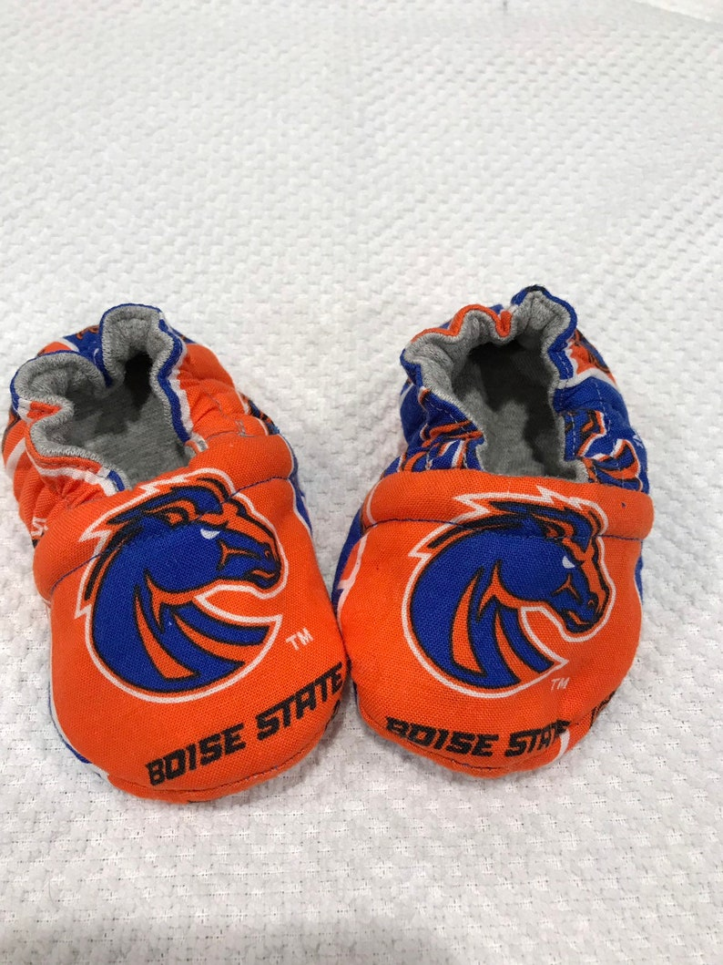 c3f46991ab488 Boise State reversible soft sole baby/crib shoe baby gift baby mocs