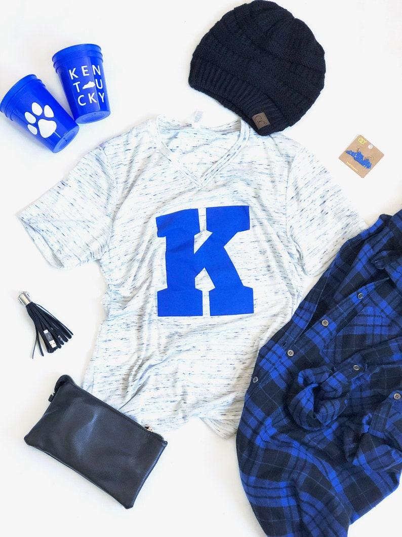 new style daefe a28bd Kentucky Wildcats Shirt, Kentucky Tshirt, Kentucky Wildcats, Kentucky Tee,  Power K, Big K, V neck, Kentucky Shirt, University of Kentucky