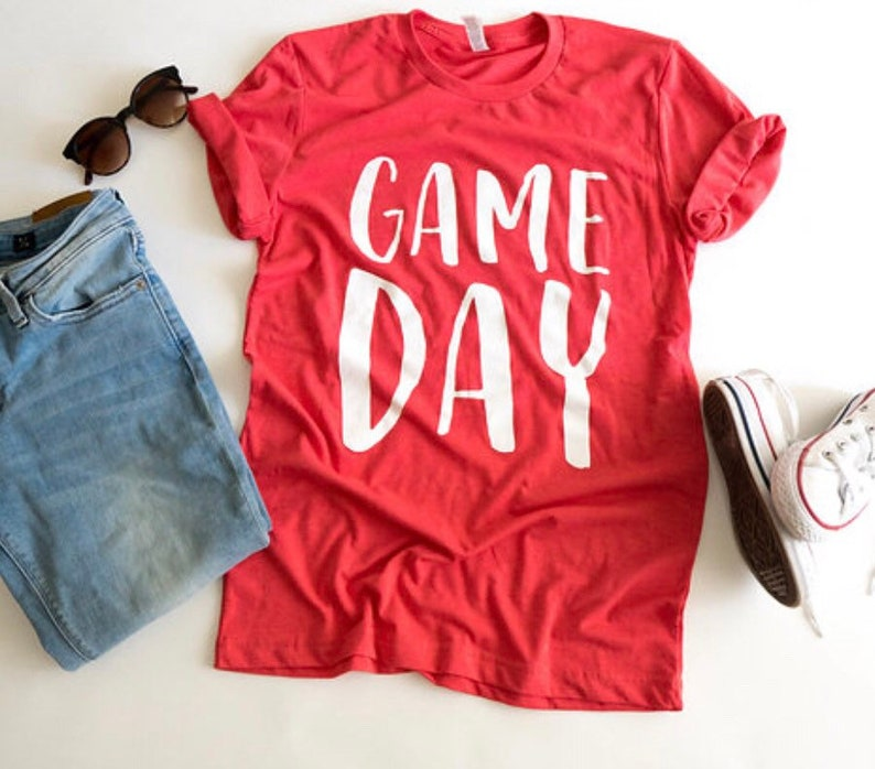 factory authentic 3b4c1 1392a Game Day Shirt, Basketball, Sports, Red Sports, Football Mom Tee, UGA, Red  Football Shirt, Red School Colors, Team Shirt, Louisville