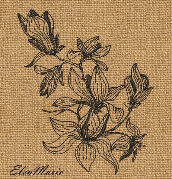 Flowers Machine Embroidery Design Embroidery Patterns Etsy