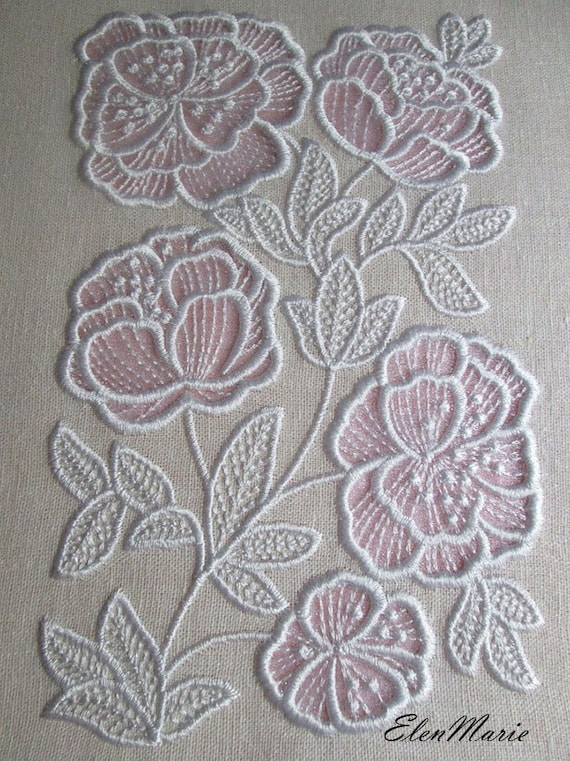 Machine Embroidery Design Flowers Applique Cutwork Applique Etsy