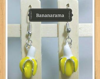 YELLOW BANANA EARRINGS