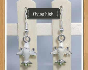 PLANE PILOT AEROPLANE earrings