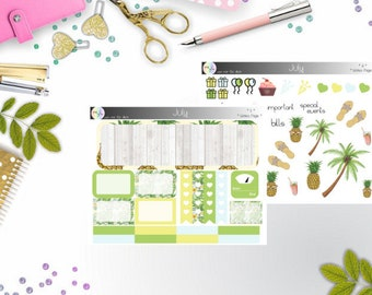 notes page - Juli  (Happy Planner Stickers)