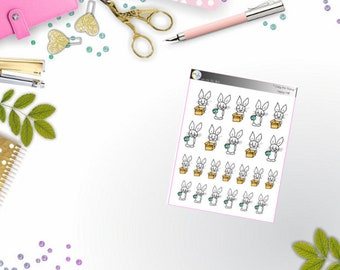 Eddy the Bunny - happy mail (Erin Condren and Happy Planner Stickers)