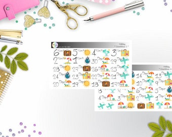 Basics - Holiday Countdown (Erin Condren and Happy Planner Stickers)