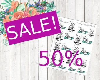 SALE - Eddy the Bunny - Sport (Erin Condren and Happy Planner Stickers)