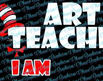 Art Teacher I Am SVG