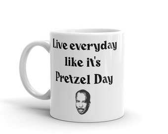 The office coffee mug Bears Beets Stanley Hudson Pretzel Day The Office Tv Show Mug Etsy The Office Tv Show Mug Etsy