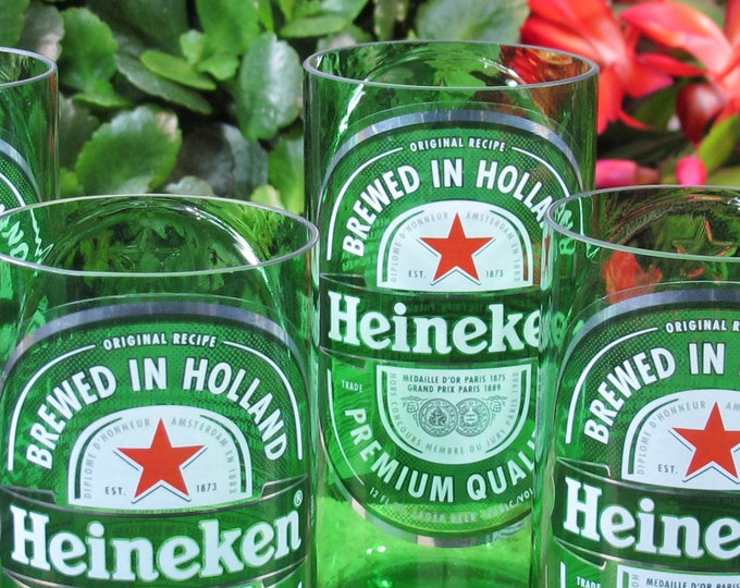 beer gift for husband heinekin lager drinking glass set beer xmas gift beer christmas gift recycled beer bottle mens gift gift ideas for him
