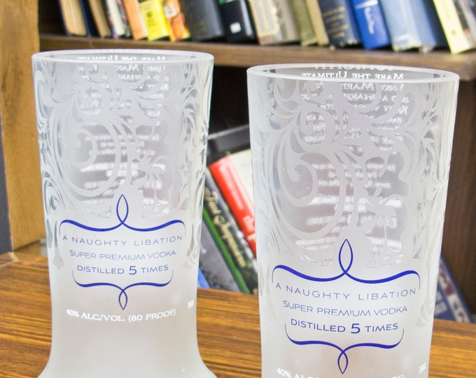 inspired present Kinky vodka goblets vodka tumblers inspired gift idea earth friendly unusual gift wife frosted cups meaningful gifts bottle