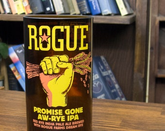 gift for men Rogue promise gone aw-rye IPA glass gift cool beer gifts best beer gift badass fiance gift beer gifts for dad drunk from wife