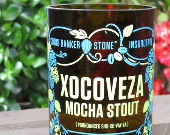 stone brewing xocoveza tumbler gift idea for cousin gift for uncle liquor cabinet gift from wife badass gift idea mancave gift manly men