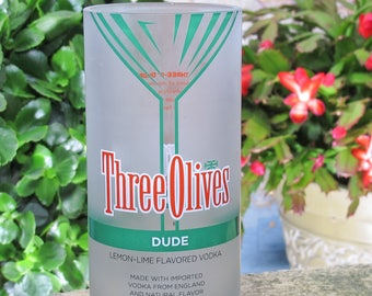 fun centerpiece vase Three Olives Vintage Dude Vodka housewarming gift idea xmas present idea fun valentines unusual valentines present idea