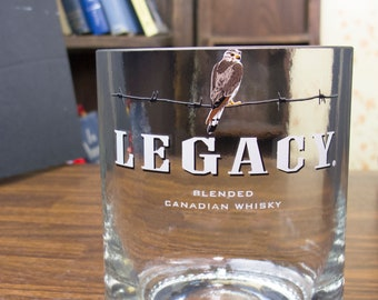Legacy Whiskey glass man gift idea perfect gift for dad whiskey gift for real man gift idea for fiance gift for guys gift for manly men