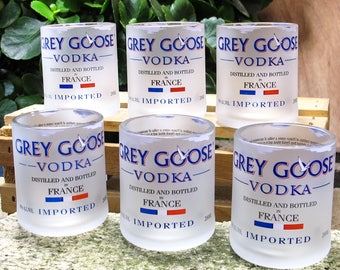 Eco-friendly Awesome Manly Gifts Grey Goose Vodka Shot Glass set of 6 For Men Who Have Everything from wife son daughter cool things mancave