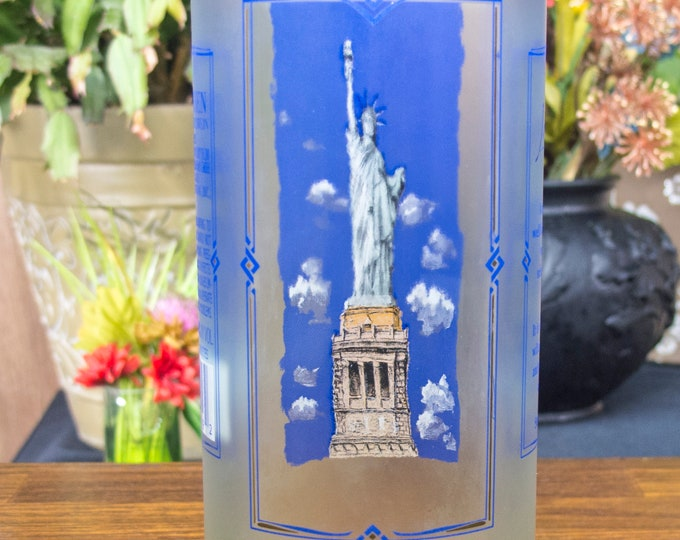 Rheinhessen Riesling Statue of liberty bottle upcycled tumbler
