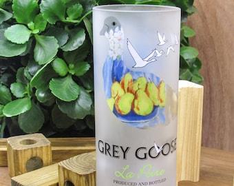 housewarming present gift idea Grey Goose Vodka la Poire unique flower vase gift idea for friend grey goose gift set liquor cabinet gift