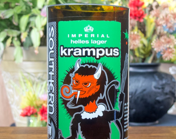 Southern Teir Krampus bottle reclaimed glass gift unusual unique present guy gift badass