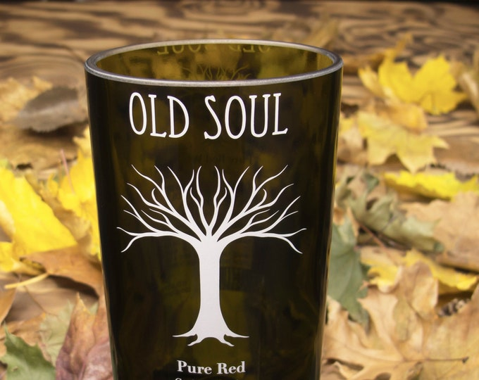 Old Soul Pure Red wine bottle upcycled tumbler