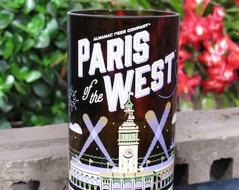 Paris West Almanac Beer Company Upcycled Bottle Drinking Glasses Best Gift 2018