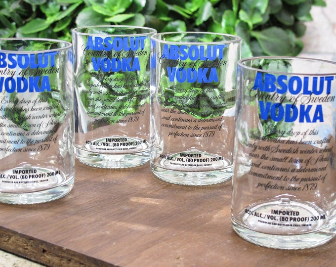 absolut vodka shot glasses gift idea for husband gift for wife earth first gift special gift cocktail glass set fun birthday present idea