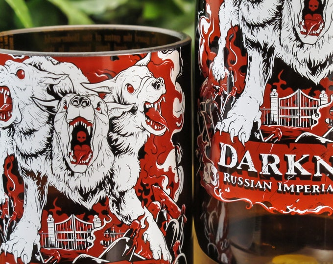 unusual gift for men Surly Brewing Darkness Russian Imperial Stout rocks glasses drinking gift booze best beer gift idea gift ideas for dad