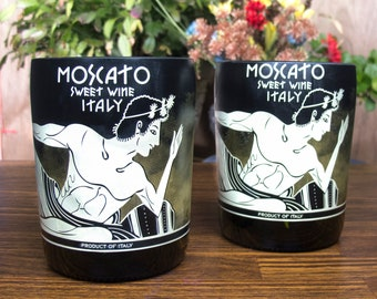 Candoni moscato sweet wine tumblers alcohol drinkware decorative glass guy gift from friend manly secret santa