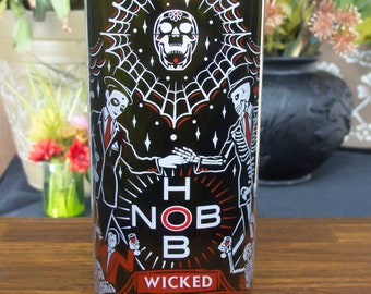 Hob Nob Wicked Red Limited Edition Tall Glass Tumbler or Vase