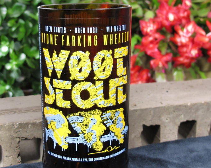 wootstout stone farking wheaton tumbler gift idea for cousin gift for uncle liquor cabinet gift from wife badass gift idea mancave gift