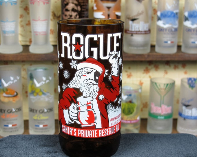 Beer Taster Rogue Santa's Private Ale Tumbler Awesome Manly Gift Liquor Cabinet Badass Gift Idea Ingenious Gift for men Drinking Buddies