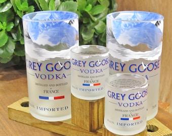 Grey Goose Vodka  16oz Tumblers and Shot Glass Gift Set