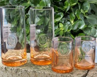 Ciroc Mango Glasses Gift Set Skinny Tumblers and Shot Glasses
