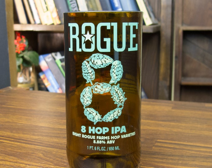 gifts for men Rogue 8 hop beer glass gift beer lover gift for men who have everything dad gift alcohol gifts gift for husband manly gift