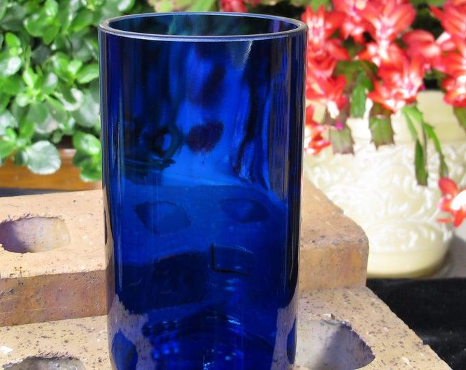 skinny tumbler skyy vodka booze gift idea 21st birthday gift blue glass vodka drinkware gift cousin gift dad xmas presents cool wedding gift