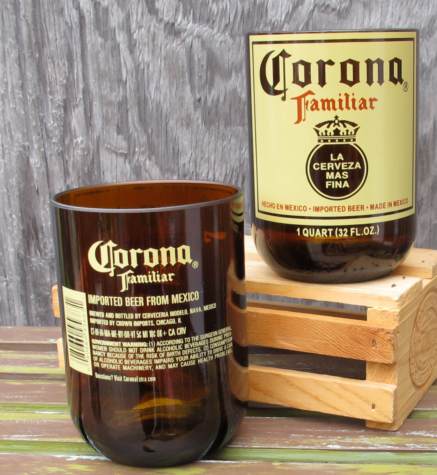 beer glasses corona familiar gift idea beer gifts for dad beer ...