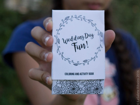 Wedding Coloring & Activity Book // Kids Wedding Coloring Book | Etsy