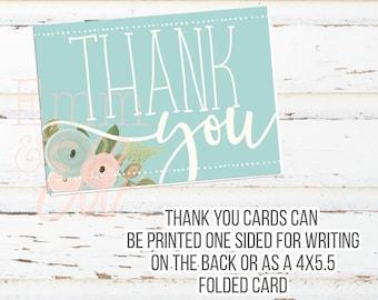 Danke Karten - 4X5.5 - Tea-Party-Baby-Dusche