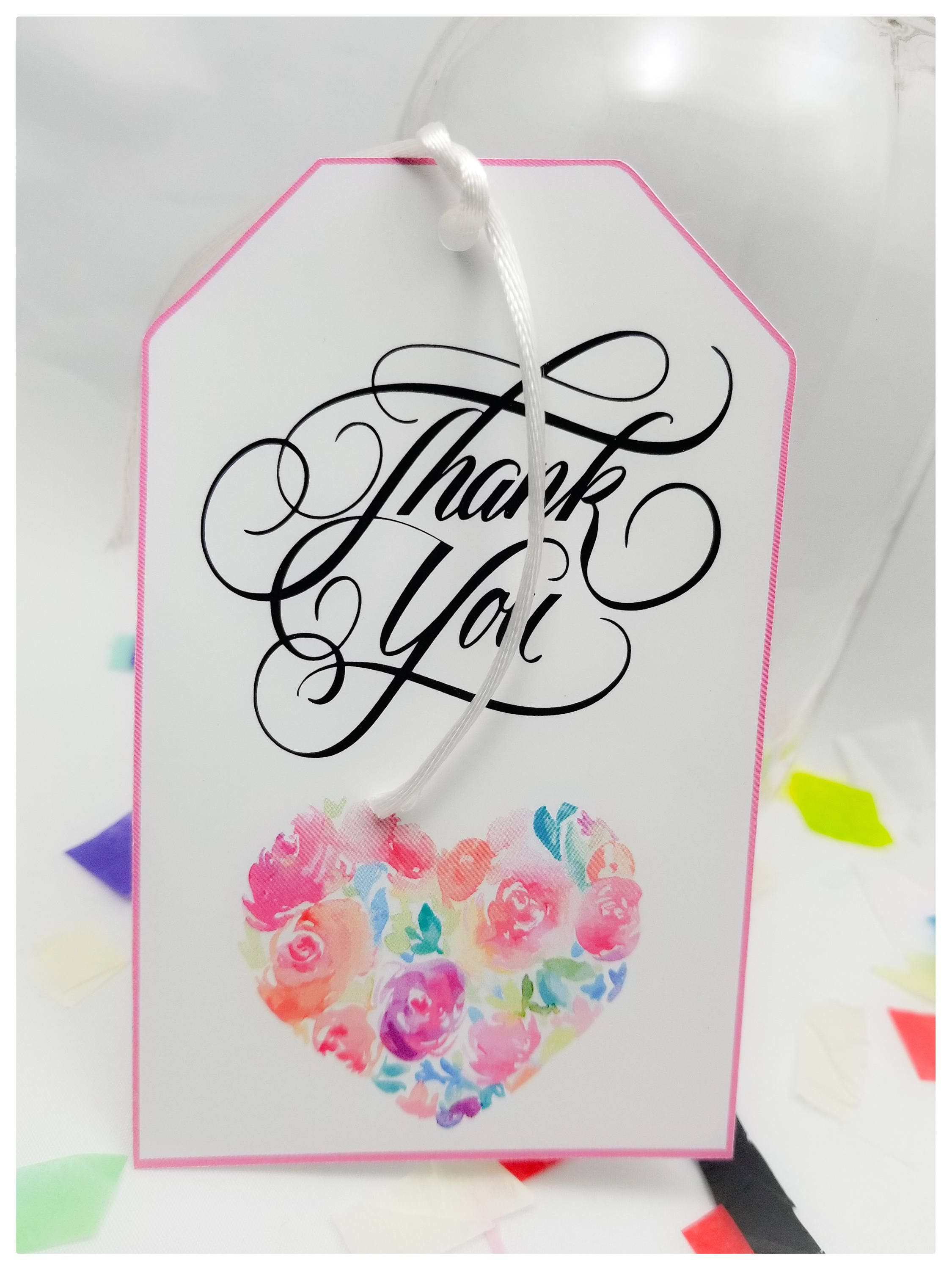 Thank You Favor Tags, Thank You Personalized Tags, Wedding favor ...