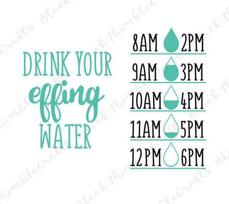 1ef86fdfc6 Drink Your Effing Water SVG Drink Water SVG Water bottle Decal | Etsy