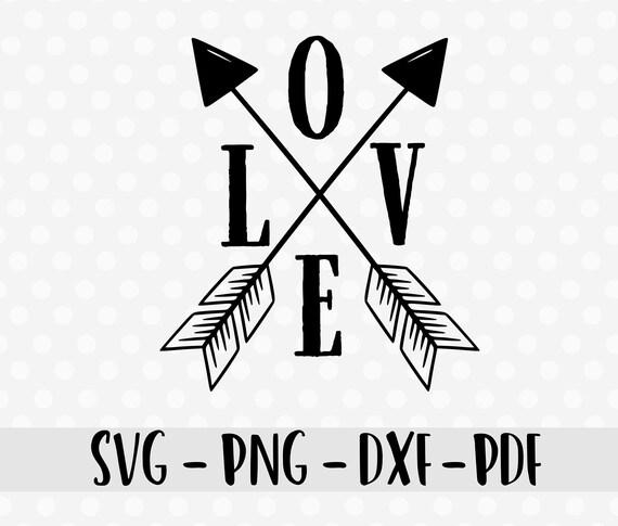 Love Svg Dxf Love Compass Svg Dxf Arrow Svg Cutting File Etsy