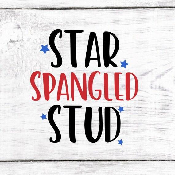 Star Spangled Stud Svg Digital Download Fourth Of July Gift Etsy