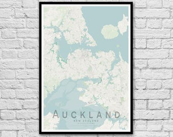 Auckland map | Etsy